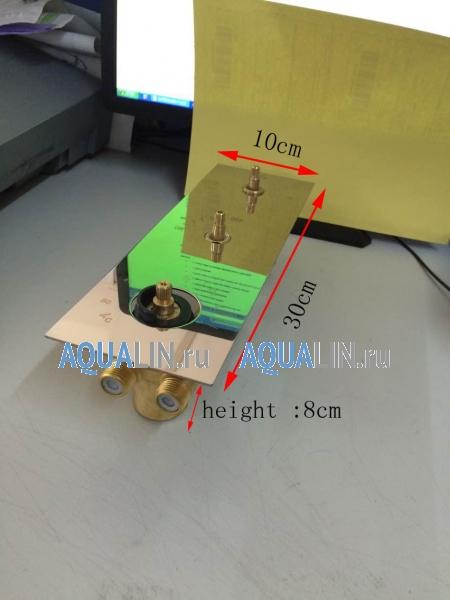 Душевая система тропический дождь с подсветкой воды, термостатический смеситель, ручной душ