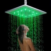 """Верхний душ """"тропический дождь"""" 8"""", LED-подсветкой, 3 цвета, нержавеющая сталь 304"""