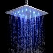 """Верхний душ """"тропический дождь"""" 10"""", LED-подсветкой, 3 цвета, нержавеющая сталь 304"""