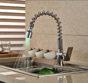 Смеситель для кухни с подсветкой воды Classic A00230