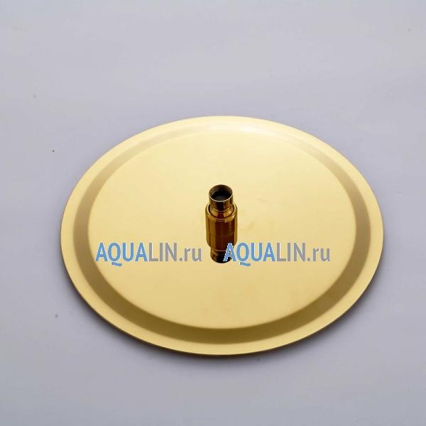 Тропический душ 10, отделка золото, термостатический смеситель, ручной душ